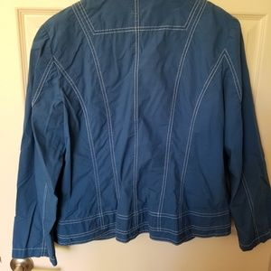 Chico's Jackets & Coats - Blue Jacket with white stitching - cute!